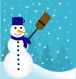 Illustration of snowman Royalty Free Stock Images