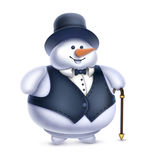 Illustration of Snowman Stock Photo