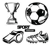 Illustration of soccer Stock Photos