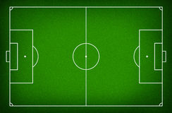 Illustration of a soccer field. Royalty Free Stock Photo