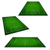 Illustration of a soccer field. Royalty Free Stock Image