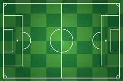 Illustration of a soccer field Royalty Free Stock Photography