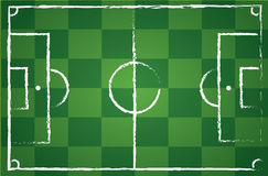 Illustration of a soccer field Stock Photo