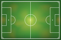 Illustration of a soccer field Royalty Free Stock Image