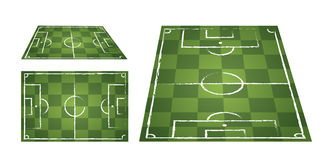 Illustration of a soccer field set Stock Photos