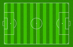 Illustration of a soccer field. Stock Image