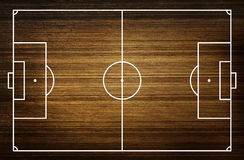 Illustration of a soccer field. (Wood pattern) Stock Photo