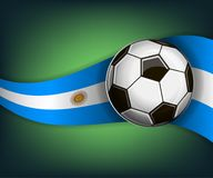 Illustration with soccet ball and flag of Argentina. Vector for international world championship tournament 2018 Royalty Free Stock Image