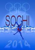 Illustration Sochi-Olympischer Spiele stock abbildung