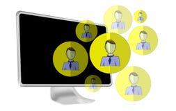 Illustration of social media heads Royalty Free Stock Photography