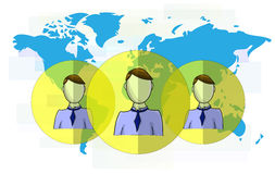 Illustration of social media heads Royalty Free Stock Images