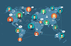Illustration of social people network community Stock Photography
