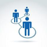 Illustration sociale de vecteur de réseau, icône de relations de personnes, Co Photo stock