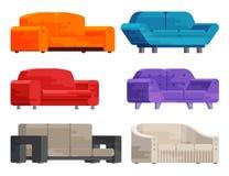 Illustration of sofa set Royalty Free Stock Photos
