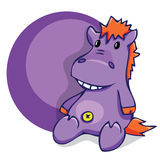 Illustration. Soft fun toy smiling hippo Royalty Free Stock Photos