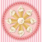 Illustration of soft serve ice cream cone Stock Photos