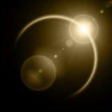 Illustration of solar eclipse Stock Image