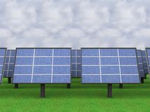 A illustration of a solar panel field Royalty Free Stock Images
