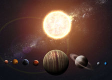 Illustration of solar system showing planets Royalty Free Stock Photography