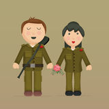 Illustration of soldiers. Stock Photo