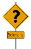 Illustration Solutions  - Trafic sign Royalty Free Stock Image