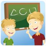 illustration som lärer vetenskapsdeltagaren vektor illustrationer