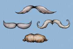 Illustration of some beards. Illustration of four beards on a light blue background Stock Images