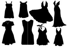 Illustration of some black dresses Royalty Free Stock Photos