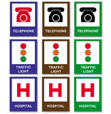 Set of signals. Illustration of some kind of signals Stock Image