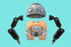 An illustration of some robot body parts royalty free stock photos