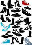 Illustration of some woman shoes Stock Images