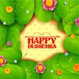 Sona patta for wishing Happy Dussehra on occassion of Navratri Vijayadashmi Royalty Free Stock Photography