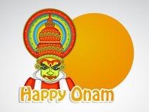 Illustration of South Indian Festival Onam background Royalty Free Stock Images