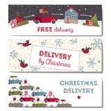 Illustration spéciale de vecteur de la livraison pour Noël Photos libres de droits