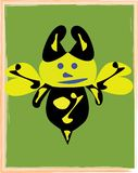 Illustration space bee. Amiable space brownie intended to print the cards, envelopes, notebooks, picture books, a new cartoon character vector illustration