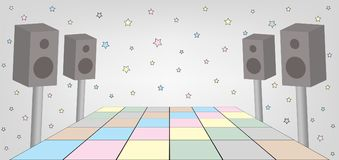 Space for dance party. Illustration of space for dance party. EPS file available stock illustration