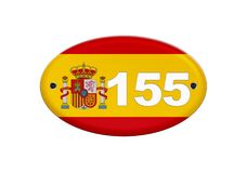 Article 155 of the Spanish constitution. Illustration Spain flag with the number 155 in reference to article 155 of the Spanish constitution vector illustration