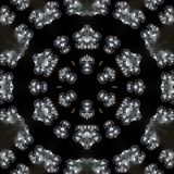 Illustration of a sparkling background of diamonds on a black background. Close-up Stock Image