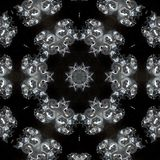 Illustration of a sparkling background of diamonds on a black background. Close-up Royalty Free Stock Image