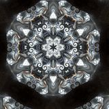Illustration of a sparkling background of diamonds on a black background. Close-up Royalty Free Stock Images