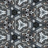 Illustration of a sparkling background of diamonds on a black background. Close-up Stock Photography