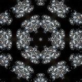 Illustration of a sparkling background of diamonds on a black background. Close-up Stock Photos