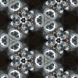 Illustration of a sparkling background of diamonds on a black background. Close-up Stock Images