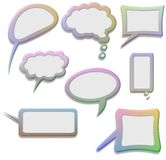 Speech and Thought bubbles. Illustration of  Speech and Thought bubbles Stock Images