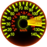 Illustration of a speedometer. Stock Photo
