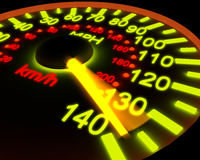 Illustration of a speedometer. Royalty Free Stock Photo