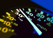 Illustration of speedometer Royalty Free Stock Photo