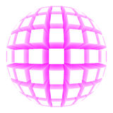 Illustration of a sphere with square faces Royalty Free Stock Photography