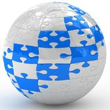 Illustration spherical puzzle Royalty Free Stock Images