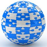 Illustration spherical puzzle Stock Images